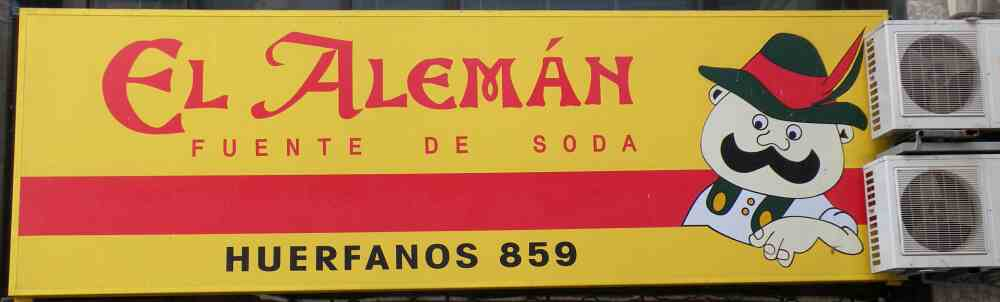 Soda fountain 'El Alemán' in Chile's capital, Santiago (2004)